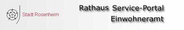 Rathaus Serviceportal Stadt Rosenheim